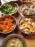Asian Chinese family style meal Stock Images