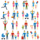 Family stylized vector icons set. Stock Images