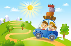 Family summer adventure Stock Images