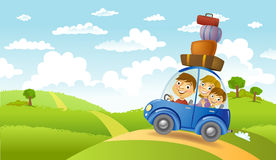 Family summer adventure Royalty Free Stock Images