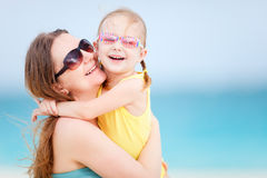 Family on summer beach vacation Royalty Free Stock Photography