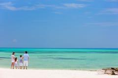 Family on summer beach vacation Stock Photo