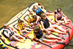 Family Summer Fun / Tubing Royalty Free Stock Photography