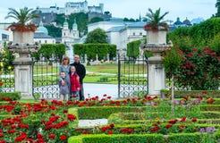 Family in summer garden (Salzburg, Austria) Royalty Free Stock Photo
