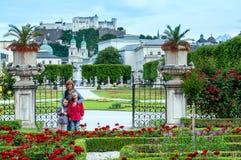 Family in summer garden (Salzburg, Austria) Stock Photography
