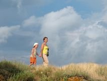 Family summer hiking Royalty Free Stock Photography