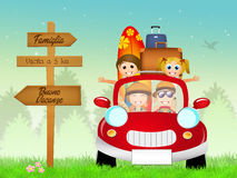 Family summer holidays Stock Images