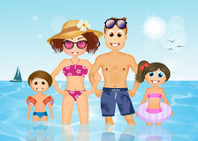 Family on summer holidays Stock Image