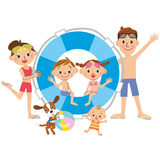 Family and summer stock illustration