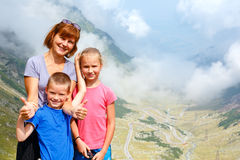 Family in summer mountain (Romania) Royalty Free Stock Photo
