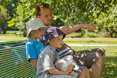 Family in summer time Royalty Free Stock Images