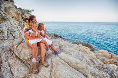 Family summer travel Royalty Free Stock Photo