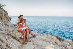 Family summer travel Stock Photography