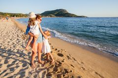 Family summer travel Royalty Free Stock Photography