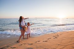 Family summer travel royalty free stock image