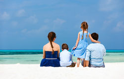 Family on summer vacation royalty free stock photos