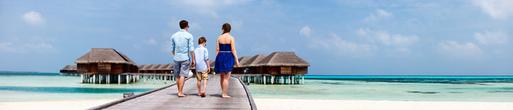 Family on summer vacation Royalty Free Stock Photo