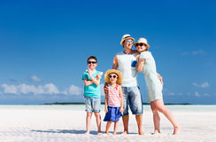 Family on summer vacation Stock Images