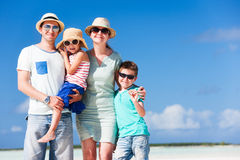 Family on summer vacation stock image