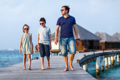Family on summer vacation Stock Photography