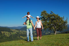 Family summer vacation in mountains Royalty Free Stock Photography