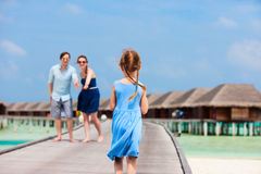 Family on summer vacation at resort Royalty Free Stock Photography