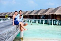 Family on summer vacation at resort Royalty Free Stock Image
