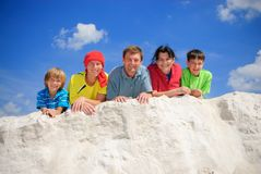 Family on summer vacations. Family together on summer vacations Stock Photos