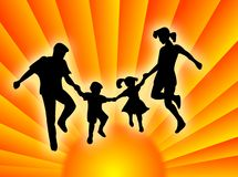 Family in the sun Royalty Free Stock Photo
