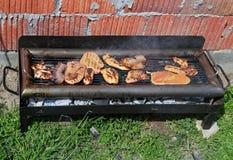 Family sunday barbecue Royalty Free Stock Photography