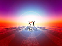 Family Sunrise. Image representing the together of a family Stock Images