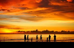 Family sunset Stock Photography
