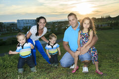 Family on the sunset of life Royalty Free Stock Image