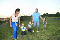 Family on the sunset of life Royalty Free Stock Photography