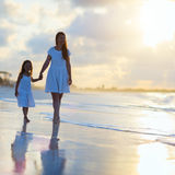 Family at sunset Royalty Free Stock Photo