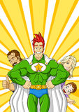 Family superhero Stock Images