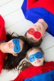 Family of superheroes Stock Photos