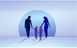 Family supported Royalty Free Stock Photo