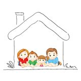 Family in Sweet Home Stock Photos