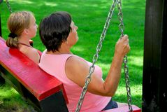 Family swings Royalty Free Stock Images
