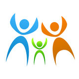 Family symbol. Smybol of family illustration vector Stock Photography