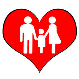 Family Symbol. A symbol of parents and child together Royalty Free Stock Photo