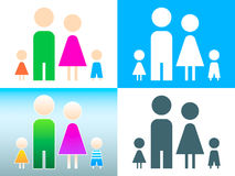 Family symbol Stock Images