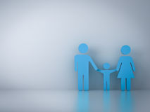 Family symbol with empty white wall background Royalty Free Stock Photography