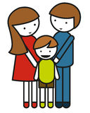 Family symbol with parents and child Stock Photography