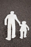 Family Symbol on Pavement Royalty Free Stock Photography