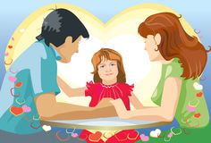 Family at the table Stock Photography
