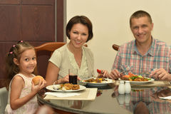 Family at the table Stock Image