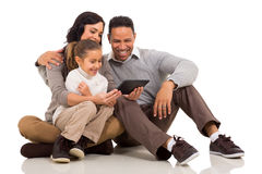 Family tablet computer Royalty Free Stock Image