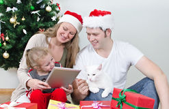 Family with tablet pc Stock Photography